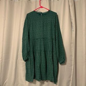 Anthropologie Maeve Esther Green Tiered Tunic
